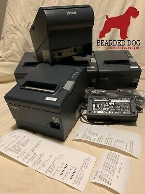 Epson Tm-t88v M244a Thermal Receipt Printer Ethernet E03 Ps-180 Power Supply
