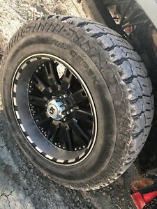 "5 bolt 20"" rims with 275/65/R20 dick cepek fun country tires"