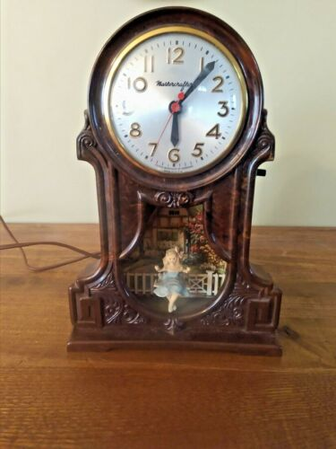 Vintage Mastercrafter Girl on Swing Motion Clock Sessions