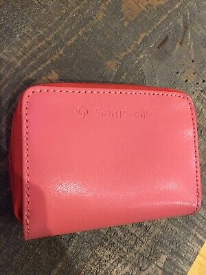 Samsonite leather card holder wallet pink zip closure never been used