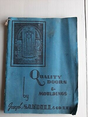 VINTAGE CATALOGUE JOSEPH SANDELL & CO DOORS MOULDINGS JOINERY TIMBER WOOD 1951