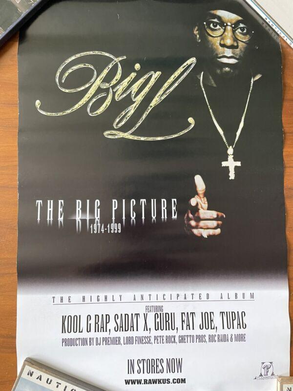 Big L -- The Big Picture Poster -- Original record store item (2000)