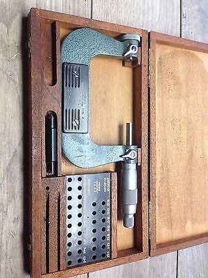 Nice Swiss Tesa 2 - 3 .001 Thread Micrometer  Case