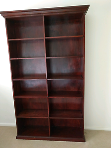 Bookcase, dark stained, very good condition Panorama Mitcham Area Preview