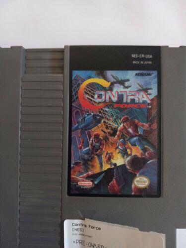 Contra Force Nintendo NES FAIR Shape/Original/Authentic  - $195.00