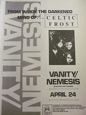 Celtic Frost, Vanity/Nemesis, Full Page Vintage Promotional Ad