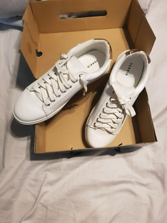 Metallic & Faux Leather Sneakers (Wide Width)