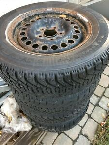 205/65 R15, 4 GOODYEAR NORDIC winter tires..