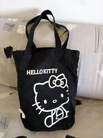 Borsa In Stoffa Originale Hello Kitty Colore Nero Con Stampa Color Crema - hello kitty - ebay.it