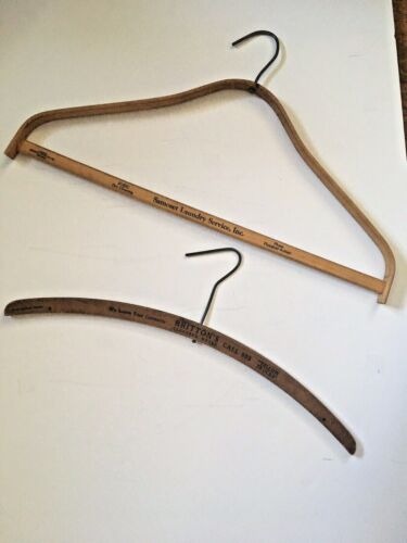 2 Vintage Wooden Advertising Hangers Phoenix Products Co