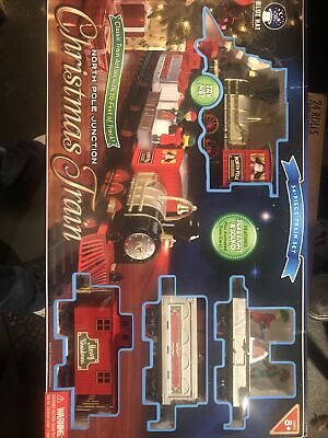 North Pole Junction Christmas Train Set Blue Hat Toy Company