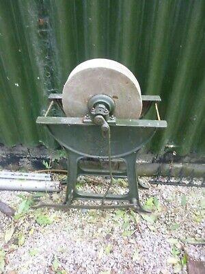 vintage ornamental wet sharpening wet wheel