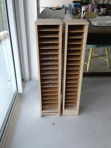 Mini storage shelves.  Shelves are adjustable. 100 cm high. $10 each. Indooroopilly Brisbane South West Preview