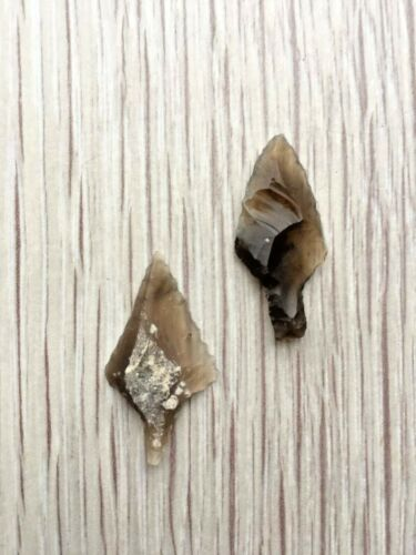 Ancient stone tip. Neolithic. 2 pieces.5