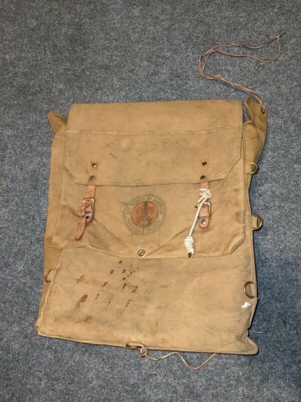 Boy Scouts of America Vintage No 574 Yucca Pack Back Pack Ruck Sack Canvas BSA