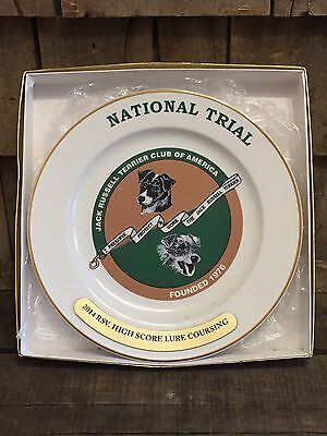 - Jack Russell Terrier Club Of America National Trial Ceramic Award Trophy Plate