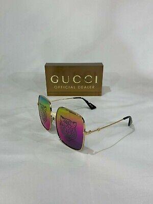 SALE! GUCCI GG 0414 TIGER SQUARE SUNGLASSES 004 GOLD! SHIPS (Gucci Shades Sale)