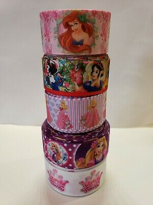 "5 Yards 7/8"" & 1"" princess Lot Grosgrain Ribbon Hair Bow Supplies. for sale  Perris"