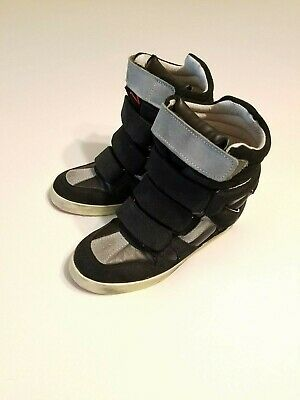 Ishikawa High Top Black Multi Suede Leather Sneakers Women's Size 37