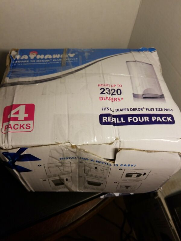 Hathaway Diaper Pail Refill 4 Pack