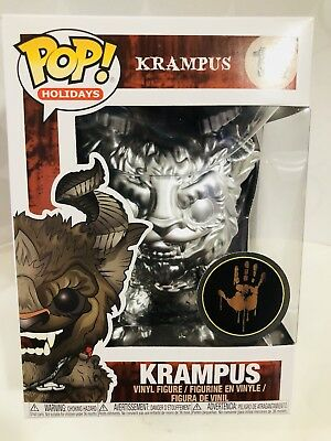 Funko Pop  Horror Movies Custom Frozen Metallic Krampus Fye Hot Topic Chrome