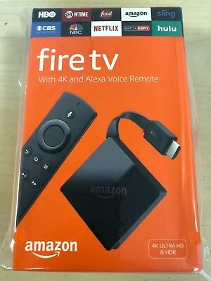 New Amazon Fire Tv With 4K Ultra Hd And Alexa Voice Remote Media Streamer  Black