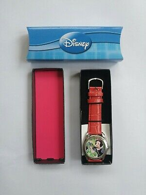 SNOW WHITE Blue Bird Vintage Disney Princess Watch red strap Analog wrist