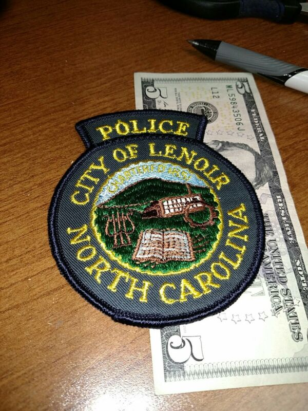 City Of Lenoir North Carolina Police Department Patch New Old Stock