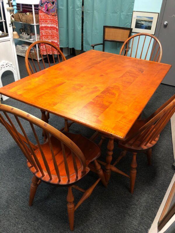 Vintage Table & 4 Windsor Chairs By Warren  Chair Works , Warren , Rhode Island