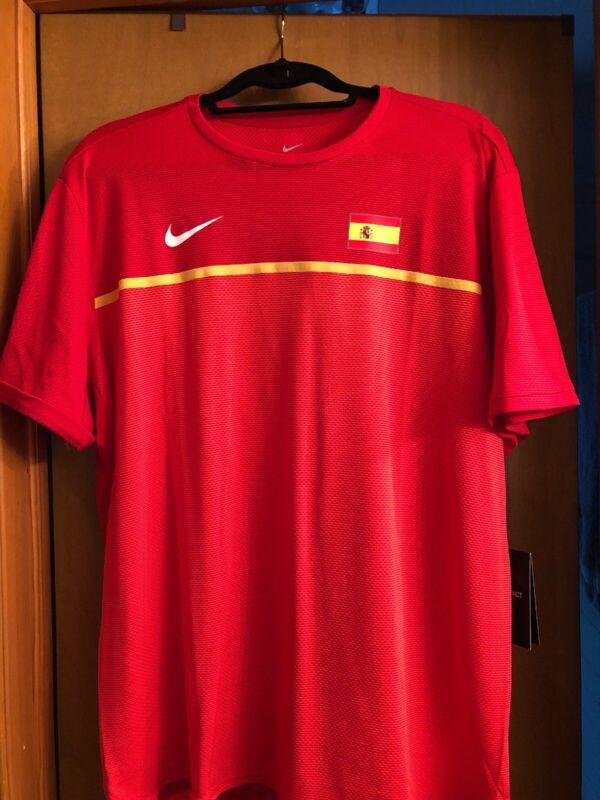 Nike Aeroreact Rafa Nadal Spain Shirt Size XL NWT 802209-696