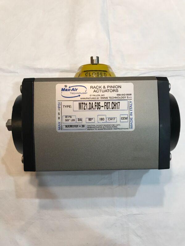 Max Air Technology MT21.DA.F05-F07.CH17 Rack and Pinion Actuator