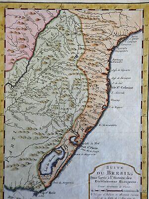 Southern Brazil Uruguay Rio de la Plata Lagoa Mirim 1773 Bellin map