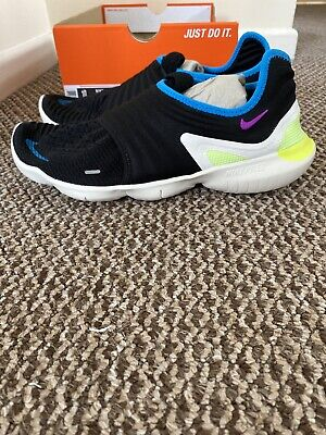 Nike Free RN Flyknit 3.0 Run UK 8.5 Black Hyper Violet AQ5707-003