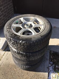 185/65/15 Winter tires on Mags 4 bolt pattern