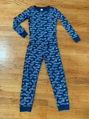 Gymboree Boys Blue Car Vehicle Pajamas Pajama Set Size 8