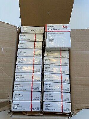 20 Boxes Leica Surgipath X-tra Thermal Micro Slides 3800090 White