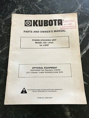 Kubota L9125 L285f Tractor Power Steering Unit Owners Manual Rare Parts Vtg 70s