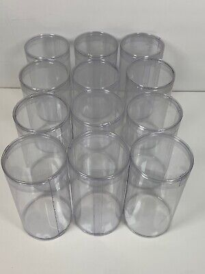 Round Clear Plastic Action Figure Display Case 2.25x4.25 12-pk Star Wars Gi Joe