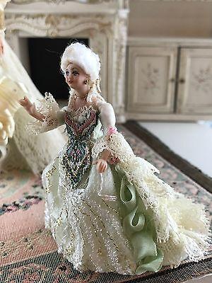 Vintage Miniature 1:24 Jacqueline Polier Couture Art Dollhouse Doll Victorian