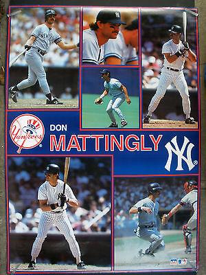 e1fee414490f58 RARE DON MATTINGLY NY YANKEES 1990 HUGE VINTAGE ORIGINAL MLB STARLINE POSTER