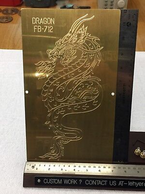 Fire Breathing Dragon Master Template Brass Engraving For New Hermes Font Tray