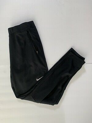Nike Running Men's Black Tapered Running Training Pants 684702-010 sz Large