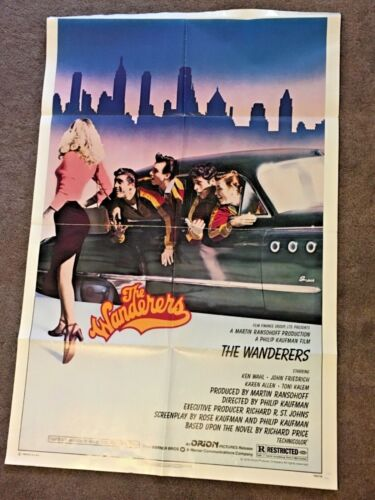 THE WANDERERS ORIGINAL FOLDED 27X41 UNUSED MOVIE POSTER KEN WAHL 1979 THE BRONX