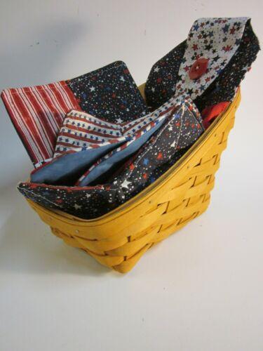 Longaberger Catalog Basket   Patriotic   Kitchen Towel  Cozy  Hot Pad   Coasters