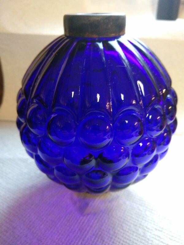 Cobalt grape glass lightning rod ball roof  cabin decor weathervane globe LBR