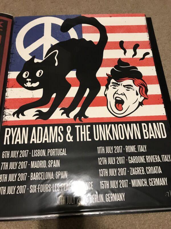 Ryan Adams 2017 Europe Trump Poo Poster