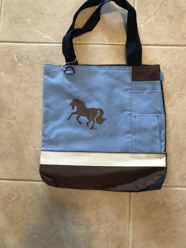 Blue And Brown Lila Tote - $17.99