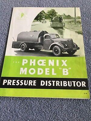 Phoenix Model B Original Sales Brochure From 1940's / 1950's Very Very Rare Item