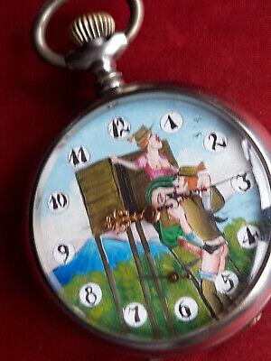 Rare Antique Omega erotic pocket watch