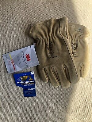 Wells Lamont Cowhide Leather Gloves100-gram Thinsulate 1063 Lg Free Shipping